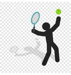 tennis player isometric icon vector image