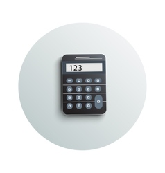 Detailed modern calculator business concept vector image