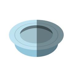 dish plate food shadow vector image