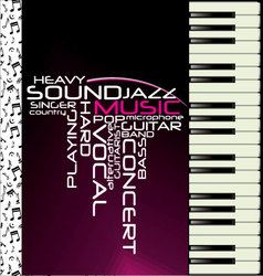 music purple piano background vector image vector image