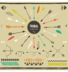Tribal elements collection vector image