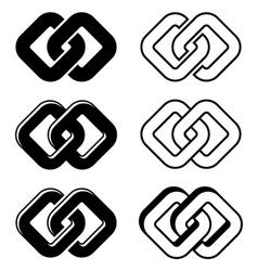 Unity black white symbols vector