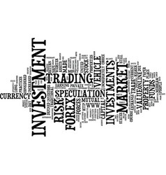 forex the other investment vehicle text vector image