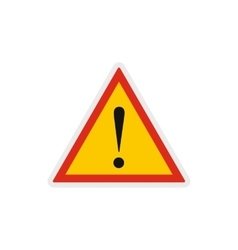 Hazard warning attention sign icon vector image vector image