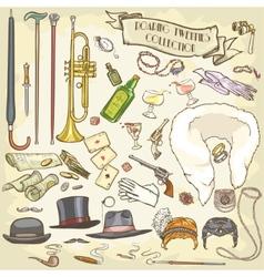 Retro Party Collection vector image
