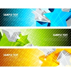 set of banners with star vector image vector image