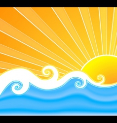 sunny summer swirls vector image vector image