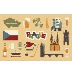 Traditional symbols of the Czech Republic vector image