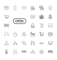 33 shop icons vector