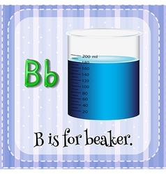 A letter B for beaker vector