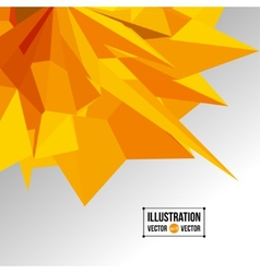 abstract background of yellow fragments vector image