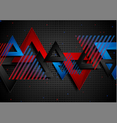 abstract concept triangles tech geometry vector image