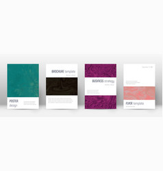 Abstract cover amusing design template suminagas vector