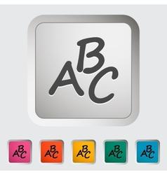 Alphabet icon vector image