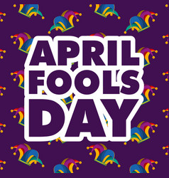 april fools day card vector image