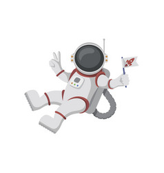 Astronaut isolated on white background vector