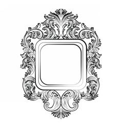Baroque rococo exquisite mirror frame vector