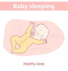basleeping cute little child sleeping vector image
