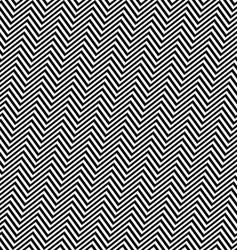 Black white angular seamless zig zag line pattern vector image