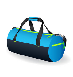 Blue black sport bag for sportswear and equipment vector