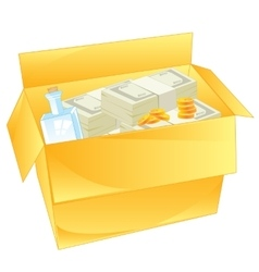 Box with money vector