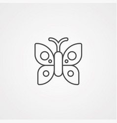 Butterfly icon sign symbol vector