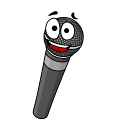 Cartoon handheld microphone vector