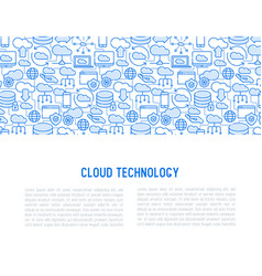 cloud computing technology concept vector image