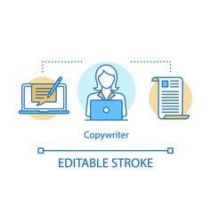 Copywriter concept icon blog smm content idea vector