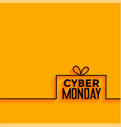 Cyber monday yellow minimal style background vector