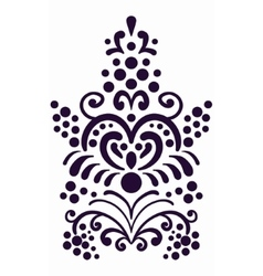 Decorative border element Old style wallpaper vector image