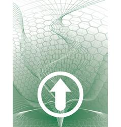 Delta arrow green vector