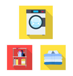 design of laundry and clean sign vector image