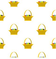 Easter basket pattern seamless vector