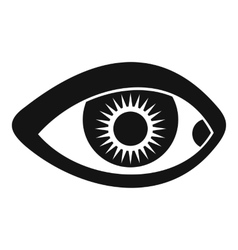Eye icon simple style vector