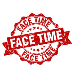 Face time stamp sign seal vector