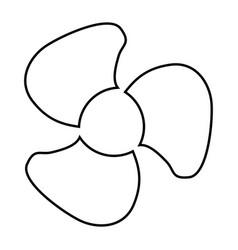 fan blades black color icon vector image