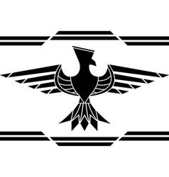 Fantasy bird stencil vector
