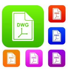 File dwg set collection vector