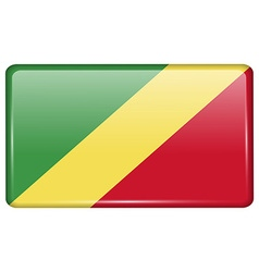 Flags Congo Republic in the form of a magnet on vector
