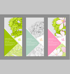 Floral banners set vector