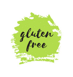Gluten free round stamp logo or sign vector