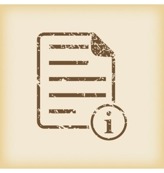 Grungy information document icon vector
