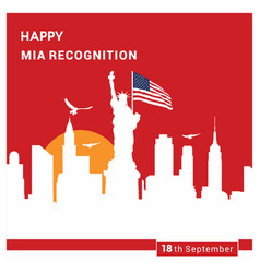 Happy mia recognition card design vector