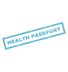 Health Passport Rubber Stamp vector image