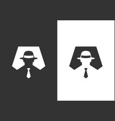 Incognito logo icon design template hacker or spy vector