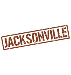 Jacksonville brown square stamp vector