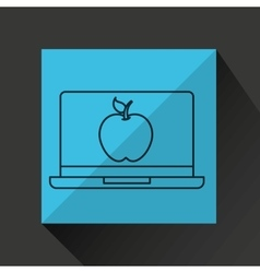 Learn online book apple design vector