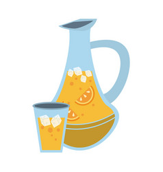 lemonade jar and cup vector image