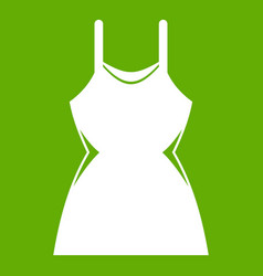 little dress icon green vector image